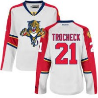 Women's Florida Panthers #21 Vincent Trocheck White Away NHL Jersey