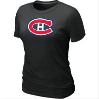 Women's Montreal Canadiens Big & Tall Logo Black NHL T-Shirts