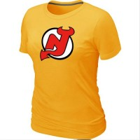 Women's NHL New Jersey Devils Big & Tall Logo T-Shirt Yellow