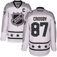 Women's Pittsburgh Penguins #87 Sidney Crosby White 2017 All-Star Metropolitan Division Stitched NHL Jersey