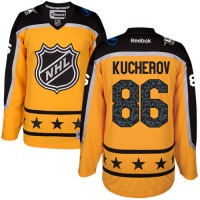 Women's Tampa Bay Lightning #86 Nikita Kucherov Yellow 2017 All-Star Atlantic Division Stitched NHL Jersey