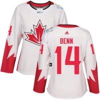 Women's Team Canada #14 Jamie Benn White 2016 World Cup Stitched NHL Jersey