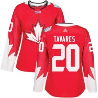 Women's Team Canada #20 John Tavares Red 2016 World Cup Stitched NHL Jersey