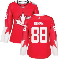 Women's Team Canada #88 Brent Burns Red 2016 World Cup Stitched NHL Jersey