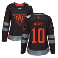 Women's Team North America #10 J. T. Miller Black 2016 World Cup Stitched NHL Jersey