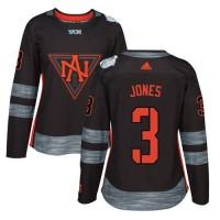 Women's Team North America #3 Seth Jones Black 2016 World Cup Stitched NHL Jersey
