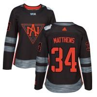 Women's Team North America #34 Auston Matthews Black 2016 World Cup Stitched NHL Jersey
