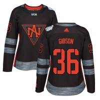 Women's Team North America #36 John Gibson Black 2016 World Cup Stitched NHL Jersey