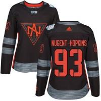 Women's Team North America #93 Ryan Nugent-Hopkins Black 2016 World Cup Stitched NHL Jersey