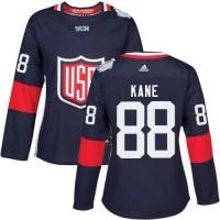 Women's Team USA #88 Patrick Kane Navy Blue 2016 World Cup Stitched NHL Jersey