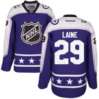 Women's Winnipeg Jets #29 Patrik Laine Purple 2017 All-Star Central Division Stitched NHL Jersey
