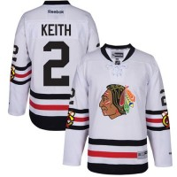 Youth Chicago Blackhawks #2 Duncan Keith White 2017 Winter Classic Stitched NHL Jersey