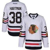 Youth Chicago Blackhawks #38 Ryan Hartman White 2017 Winter Classic Stitched NHL Jersey