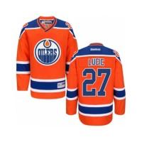 Youth Edmonton Oilers #27 Milan Lucic Orange Third NHL Jersey