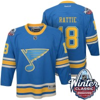 Youth St. Louis Blues #18 Ty Rattie Blue 2017 Winter Classic Stitched NHL Jersey