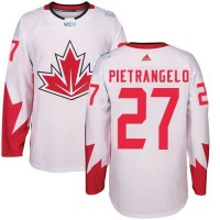 Youth Team Canada #27 Alex Pietrangelo White 2016 World Cup Stitched NHL Jersey
