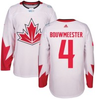 Youth Team Canada #4 Jay Bouwmeester White 2016 World Cup Stitched NHL Jersey