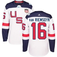 Youth Team USA #16 James van Riemsdyk White 2016 World Cup Stitched NHL Jersey
