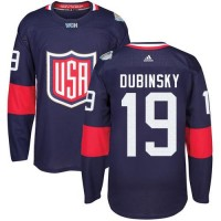 Youth Team USA #19 Brandon Dubinsky Navy Blue 2016 World Cup Stitched NHL Jersey