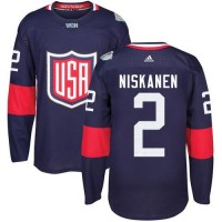 Youth Team USA #2 Matt Niskanen Navy Blue 2016 World Cup Stitched NHL Jersey