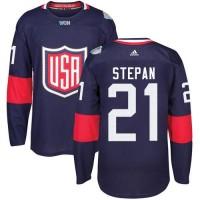 Youth Team USA #21 Derek Stepan Navy Blue 2016 World Cup Stitched NHL Jersey