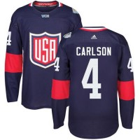 Youth Team USA #4 John Carlson Navy Blue 2016 World Cup Stitched NHL Jersey
