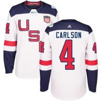 Youth Team USA #4 John Carlson White 2016 World Cup Stitched NHL Jersey