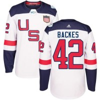 Youth Team USA #42 David Backes White 2016 World Cup Stitched NHL Jersey