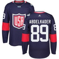 Youth Team USA #89 Justin Abdelkader Navy Blue 2016 World Cup Stitched NHL Jersey