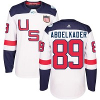 Youth Team USA #89 Justin Abdelkader White 2016 World Cup Stitched NHL Jersey