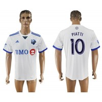 Montreal Impact #10 Piatti Away Soccer Club Jersey