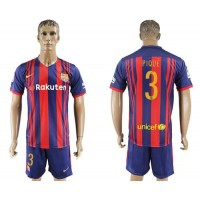 Barcelona #3 Pique Home Soccer Club Jersey