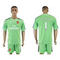 Arsenal #1 Szczesny Green Goalkeeper Soccer Club Jersey