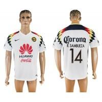 America #14 R.Sambueza Away Soccer Club Jersey