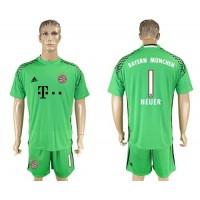 Bayern Munchen #1 Neuer Green Goalkeeper Soccer Club Jersey