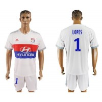 Lyon #1 Lopes Home Soccer Club Jersey