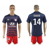 Lyon #14 Darder Away Soccer Club Jersey