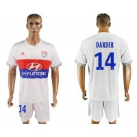 Lyon #14 Darder Home Soccer Club Jersey