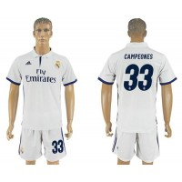 Real Madrid #33 Campeones Home Soccer Club Jersey