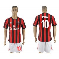 AC Milan #10 Honda Home Soccer Club Jersey