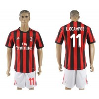 AC Milan #11 L.OCAMPOS Home Soccer Club Jersey