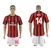 AC Milan #14 Mati Home Soccer Club Jersey