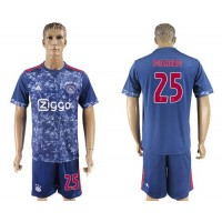 Ajax #25 Dolberg Away Soccer Club Jersey