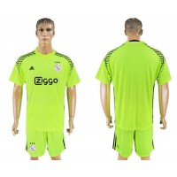 Ajax Blank Shiny Green Goalkeeper Soccer Club Jersey