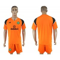 Celtic Blank Orange Goalkeeper Soccer Club Jersey