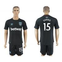 West Ham United #15 Sakho Away Soccer Club Jersey