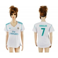 Women's Real Madrid #7 Ronaldo Home Soccer Club Jersey