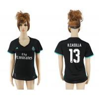 Women's Real Madrid #13 K.Casilla Away Soccer Club Jersey
