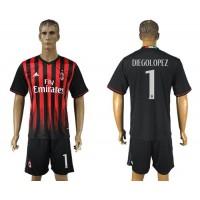 AC Milan #1 Diegolopez Home Soccer Club Jersey