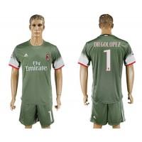 AC Milan #1 Diegolopez Sec Away Soccer Club Jersey